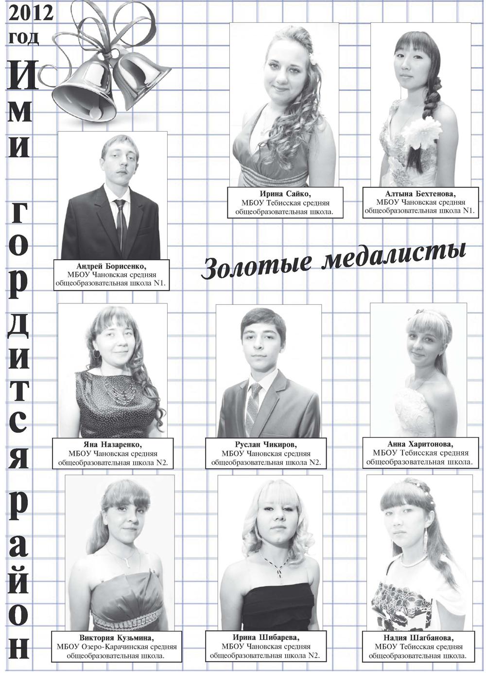 медалисты - 2012
