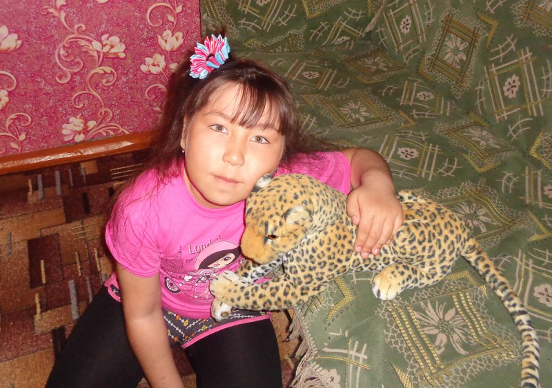 Алина Шелухина (7 лет), д.Малый Тебисс