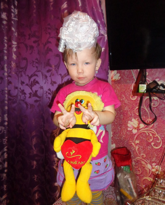 Диана Абдулина(2 года), д.Малый Тебисс