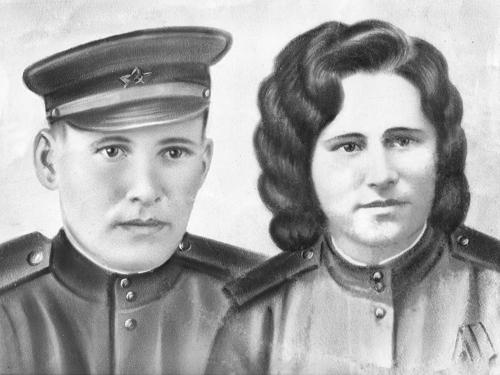 А. Т. Крылов с женой Прасковьей Константиновной